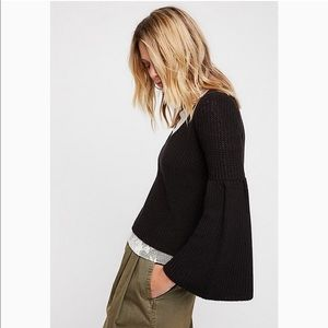 Free People damsel cable knit sweater